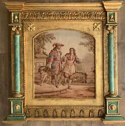Antique French 19th Century Abusson Tapestry