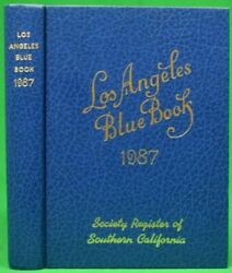 Los Angeles Blue Book 1987 Society Register Of Southern California