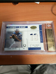 2003 Leaf Certified Johnny Unitas Fabric Of The Game Patch 1/1 Beckett Slab
