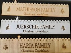 Personalised Wooden Christmas Star Advent Calendar 24 Day Countdown To Christmas