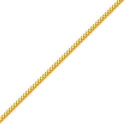 14k Solid Yellow Gold Womenand039s/menand039 Franco Chain 1.5mm Size 16-24 Free Shipping