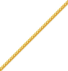 14k Solid Yellow Gold Womenand039s/menand039 Franco Chain 1.75mm Size 18-24