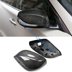 2016-2018 For Infiniti Q60 Direct Replacement Carbon Fiber Side Mirror Cover Cap