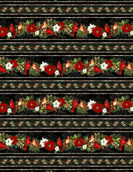 WILMINGTON FABRICS #39637 931 quot;CARDINAL NOELquot; BORDER BTY