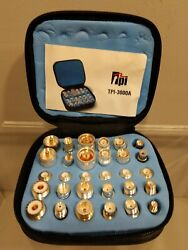 Test Probe Inc. Tpi-3000a 30 Piece Coax Plugs Adapter Kit In Zippered Case