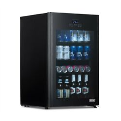 Newair Beer Fridge Froster 125 Can In Black With Party And Turbo Mode, Nbf125bk00