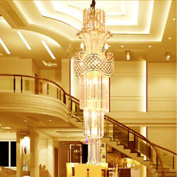 Modern Penthouse Stairs Crystal Ceiling Lamps Chandeliers Villa Lighting Fixture