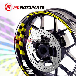 Racing 17 Rim Decals Wheel Stickers Edge Inner Tape Gp01 For Yamaha Suzuki -mc