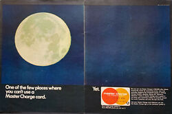 Vintage 1969 Master Charge Can't Use It On The Moon 2 Pg Print Ad Advertisement