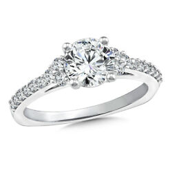 Round Cut 0.85 Ct Real Diamond Engagement Ring Solid 950 Platinum Band Size 6 5