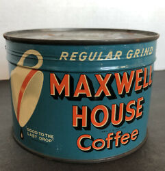 Vintage 1940's Nos New Old Stock Sealed Maxwell House Coffee Tin Key Open Style