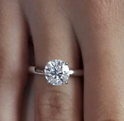 1.25 Ct Classic 4 Prong Round Cut Diamond Engagement Ring Si2 D White Gold 18k