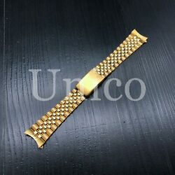 19mm Jubilee Watch Band For Rolex Date 1500 1550 Oyster Perpetual Gold Color