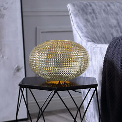 8 Hand-crafted Globe Sparkle Table Lamp