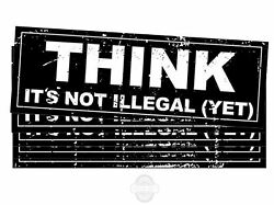 Think It's Not Illegal Yet Funny Political Bumper Stickers [for Cars Trucks] 9