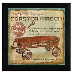 Coaster Wagon By Mollie B Printed Framed Wall Art Wood Multi-color
