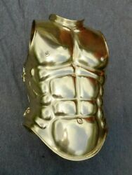 Medeival Stainless Steel With Brass Plating 18 Gauge Knight Roman Muscle Cuirass