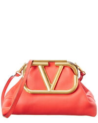 Valentino Supervee Leather Clutch Women#x27;s Red $2169.99