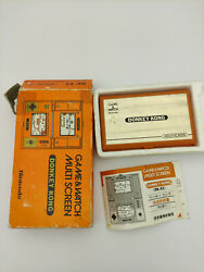 Game And Watch Donkey Kong Complete Box - Leaflet Nintendo Japan Dk-52