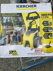 Electric 1800 Psi 1.2 Gpm Pressure Washer W/ Turbo Nozzle And Large Removable Bin