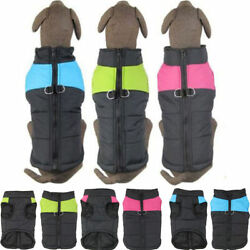 Pet Vest Jacket Warm Waterproof Winter Padded Coat Clothes For Small Large Dogs $7.89