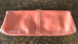 HOBO Wallet Clutch 18quot; Long Russet Patent Leather Look Top Clasp in Brass $65.00