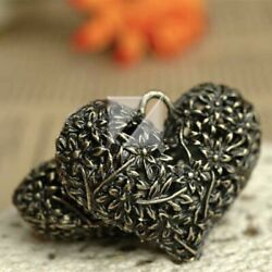2pcs Antique Brass Charm Pendant Jewelry Findings Heart 33x42x14mm Free Shipping