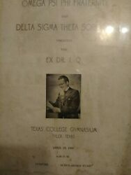 Extremely Rare Delta Sigma Theta Program Featuring Ex Dr .i.q In Tyler Texas