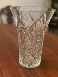 Waterford Crystal 10in Flared Vase - Signed By Master Cutter Michael Vereker