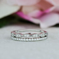0.30 Carat Solid 950 Platinum Real Diamond Wedding Band For Her Size 5 6 7.5 8 9