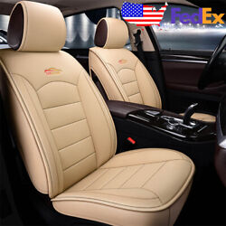 Beige Us Auto Car Suv Leather Seat Covers Set Kit For Honda Accord Civic Xr-v