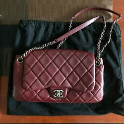 Chanel Bag Red Quilted Lambskin Accordion Flap $2500.00