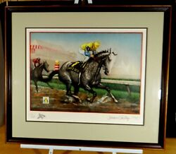 Jenness Cortez Ladyand039s Secret 1986 Horse Of The Year Signed 171/225 Remarque