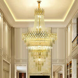Top Led Crystal Chandelier Light Luxury Living Room Dining Room Staircase Lamp