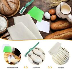 French Baguette Baking Tools Kit with Proofing Linen Cloth Fermented Couche $18.39