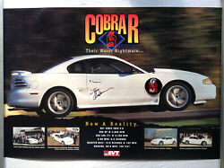 1995 Cobra R Poster Very Rare With Medallion And Signature By Steve Anderson