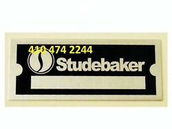 Studebaker Data Plate Serial Number Id Tag  Vin Stamping Available