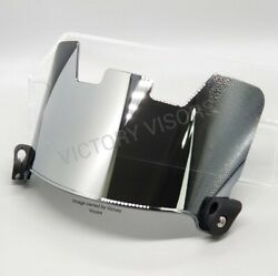 Chrome Silver Football Visor. Fits Riddell Xenith Vicis And Other Brands.