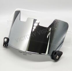 Chrome Silver Football Visor. Fits Riddell, Xenith, Vicis And Other Brands.