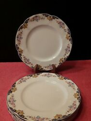 Johnson Brothers Pareek Glencoe 10 Inch Dinner Plates Made In England Lot Of 6
