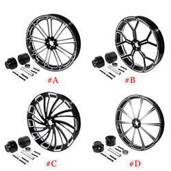26and039and039x3.5and039and039 Front Wheel Rim Hub Single Disc For Harley Road King Non Abs 08-20 19