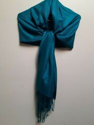 Green Pashmina Scarf Can Be Worn Day or Evening For Any Special Occasion $12.00