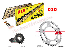 Honda Cbf600 Did Gold Xring Chain And Jt Quiet/silent Sprocket Kit 2004 To 2007