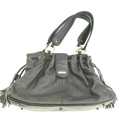 Caroll Women#x27;s Brown Leather Shoulder Bag Purse Handbag Hobo Double Strap Lined $24.95