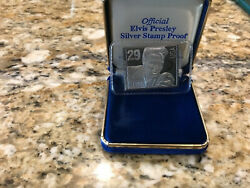 Elvis Presley Commemorative Silver Stamp With Certificate Of Authenticity