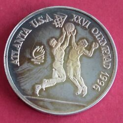 Romania 1996 Basketball Olympic Games 100 Lei Silver Proof Pattern