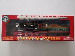 Starbucks Express Train Engine 2003 Coffee Bean Lights Model Toy Collectible