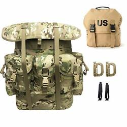 Military Rucksack Alice Pack Army Tactical Backpack With Frame And Butt Pack