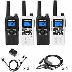 Samcom Fwcn30a Two Way Radio 22 Channels With Noaa Weather Alert Rechargeable...