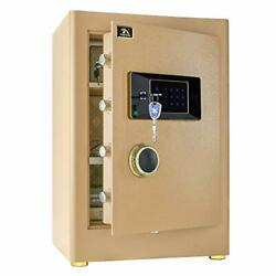 Tigerking Digital Security Safe Box For Home Office Double Safety Key Lock An...